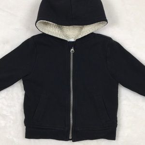 Black Hoodie with Warm Lining